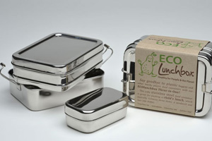 Eco Lunchbox 3-in-1 Stainless Lunch Set
