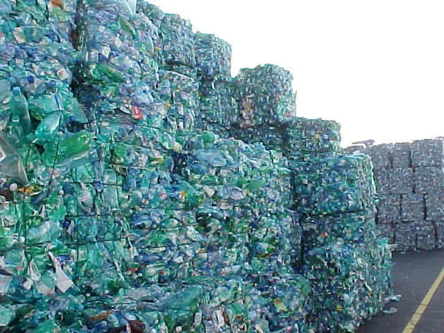 Plastic Bottles awaiting recycling